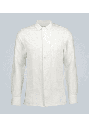 Long-sleeved shirt with piping