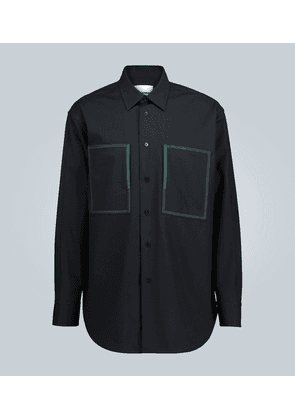 Cotton overshirt with pocket detail