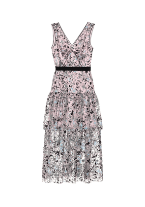 Constellation sequined midi dress