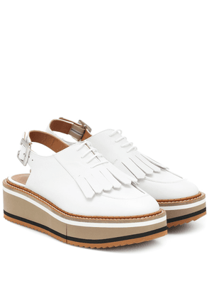 Bunny leather platform Derby shoes