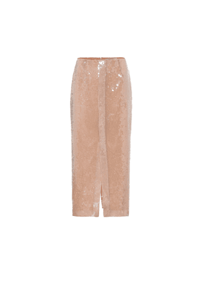 Nobel sequined pencil skirt
