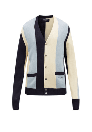 Noon Goons - The Droogs Striped Cardigan - Mens - Blue Multi