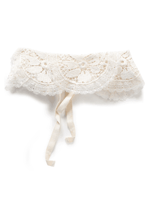 Redvalentino Scalloped Guipure Lace Collar Woman Ivory Size 40