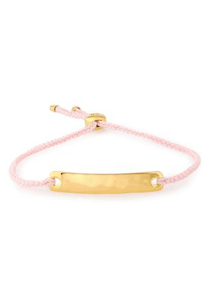 Monica Vinader Havana Mini 18-karat Gold Vermeil And Braided Cord Bracelet Woman Rose Gold Size --