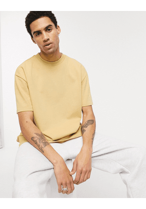 Weekday Great t-shirt in light yellow-Tan