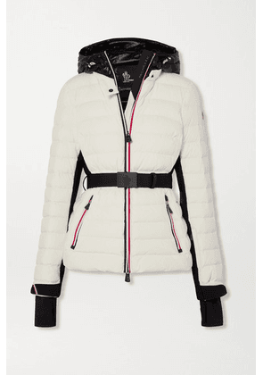 Moncler Grenoble - Bruche Belted Two-tone Quilted Ski Jacket - White