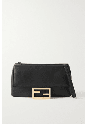Fendi - Duo Baguette Leather Shoulder Bag - Black