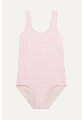 Solid & Striped Kids - Gingham Stretch-seersucker Swimsuit - Pink
