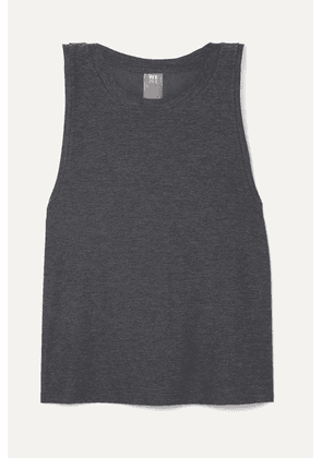 We Over Me - The Foundation Stretch-jersey Tank - Charcoal
