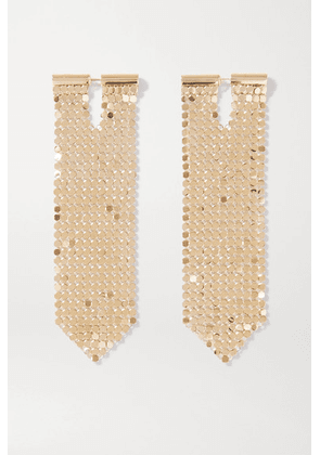 Paco Rabanne - Gold-tone Chainmail Earrings - one size