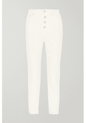 Madewell - The Perfect Vintage Cropped High-rise Straight-leg Jeans - Ivory