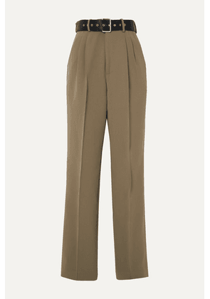 Peter Do - Belted Crepe Tapered Pants - Green
