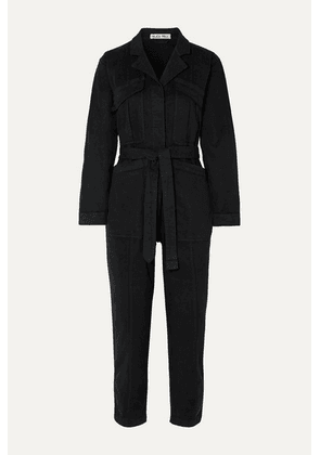 Alex Mill - Expedition Belted Stretch-tencel And Cotton-blend Twill Jumpsuit - Black