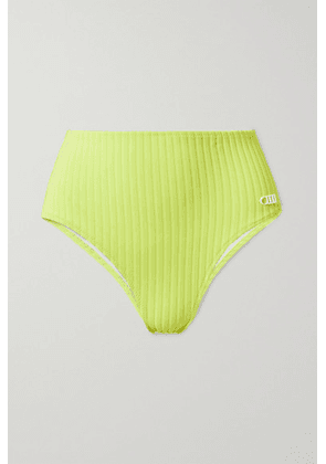 Solid & Striped - The Beverly Ribbed Bikini Briefs - Chartreuse