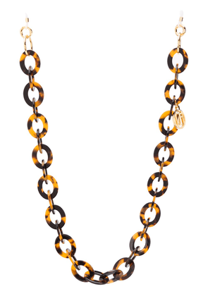 Linda Farrow oval-link glasses chain - Brown