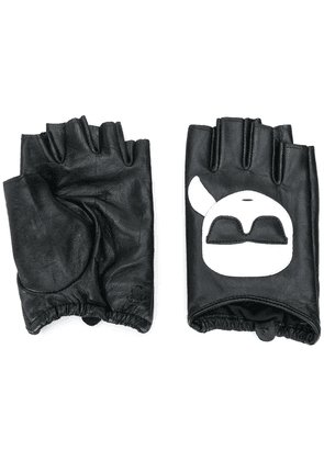 Karl Lagerfeld K/Ikonik fingerless gloves - Black