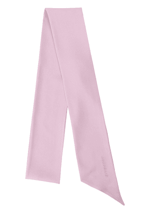 Givenchy silk embroidered logo scarf - PINK