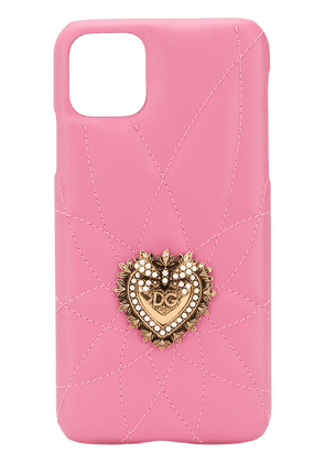 Dolce & Gabbana heart plaque iPhone XS Max case - PINK