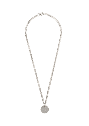 Off-White embossed logo medallion necklace - Metallic