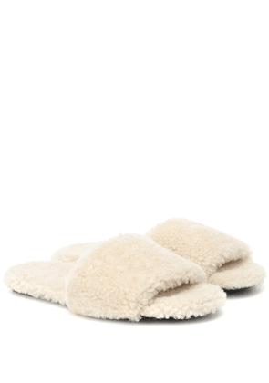 Teddy Bear shearling sandals