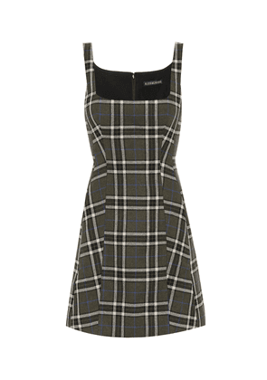 Shrimpton checked minidress