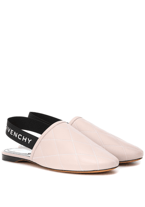 Rivington leather slingback slippers