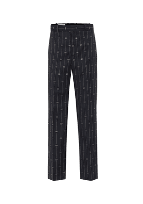 GG high-rise straight wool pants