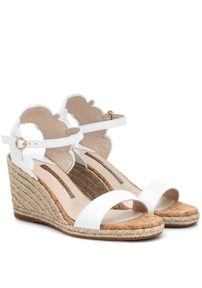 Cassia leather espadrille wedges