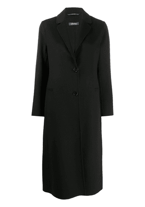 'S MAX MARA Mantel single-breasted coat - Black