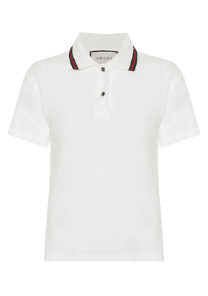 Cotton-chenille polo shirt