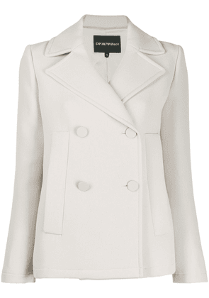 Emporio Armani fitted double breasted jacket - White