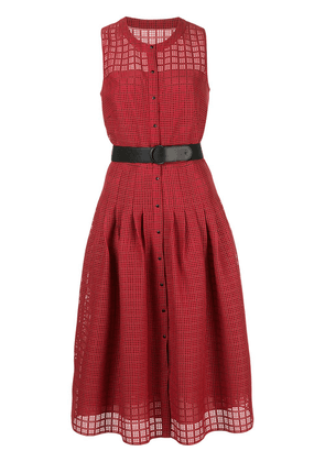 Akris Punto cut-out belted dress - Red