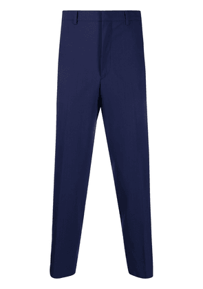 Prada tapered cropped trousers - Blue