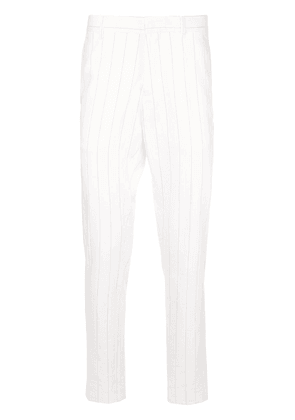 Ann Demeulemeester striped tailored-style trousers - White