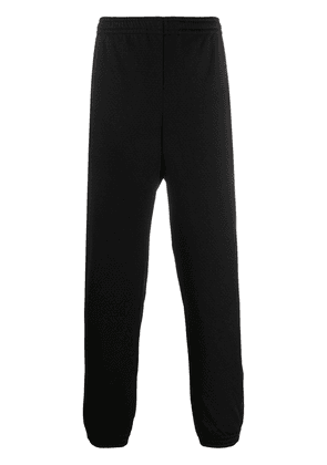 Gucci logo embroidered track pants - Black