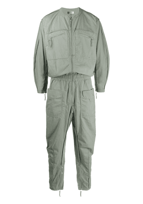 Isabel Marant collarless zip-through boiler suit - Green