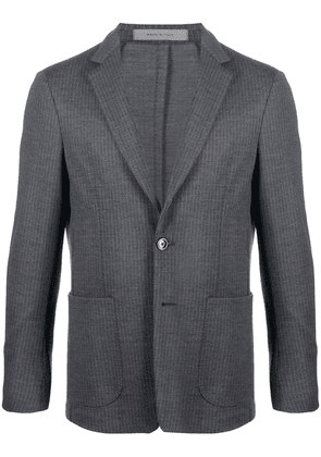 Corneliani fitted striped-print blazer - Grey