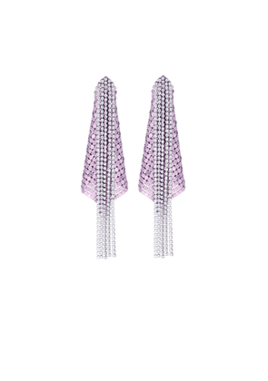 Exclusive to Mytheresa – Crystal and mesh earrings