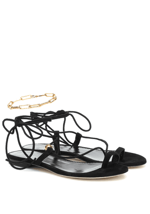 Exclusive to Mytheresa – The Stella embellished suede sandals