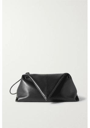 Bottega Veneta - Envelope Leather Clutch - Black