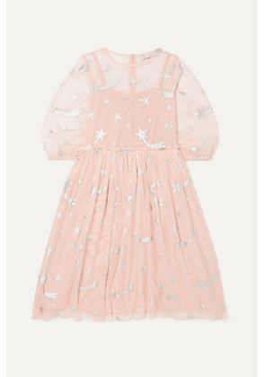 Stella McCartney Kids - Metallic Printed Tulle Dress - Pink