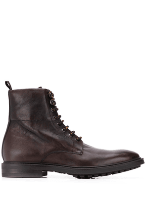 Paul Smith ankle length lace up boots - Brown