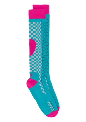 ASICS patterned knee-high socks - Blue