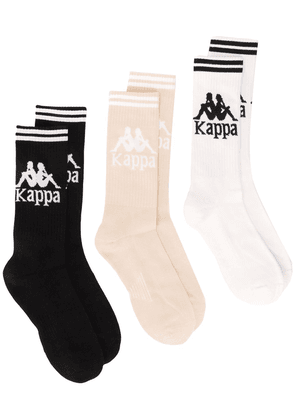 Kappa set of three logo intarsia socks - Black