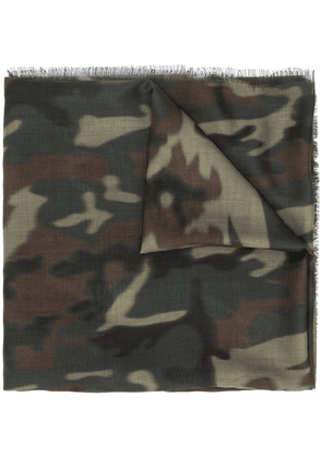Tom Ford camouflage print long scarf - Green