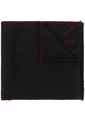 LANVIN logo knitted scarf - Black