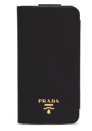 Prada fold-over iPhone XS MAX case - Black