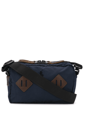 Polo Ralph Lauren leather-trimmed shoulder bag - Blue