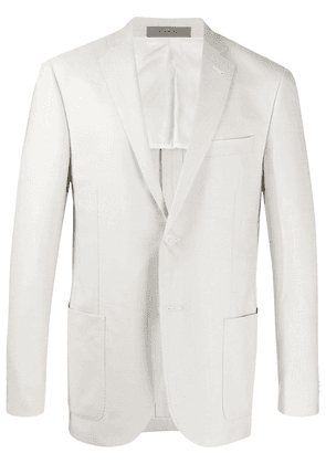 Corneliani fitted single-breasted blazer - NEUTRALS