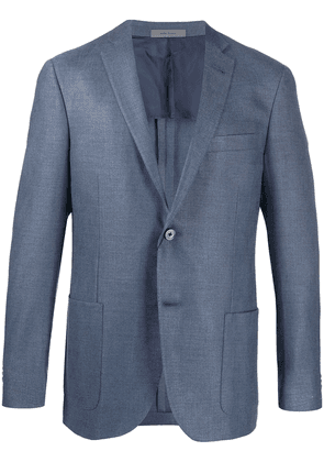 Corneliani fitted single-breasted blazer - Blue